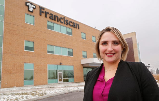 Ashley Turkowski, legal counsel for the western division of Franciscan Health, Monday, December 10, 2018, outside Franciscan Health Lafayette East.