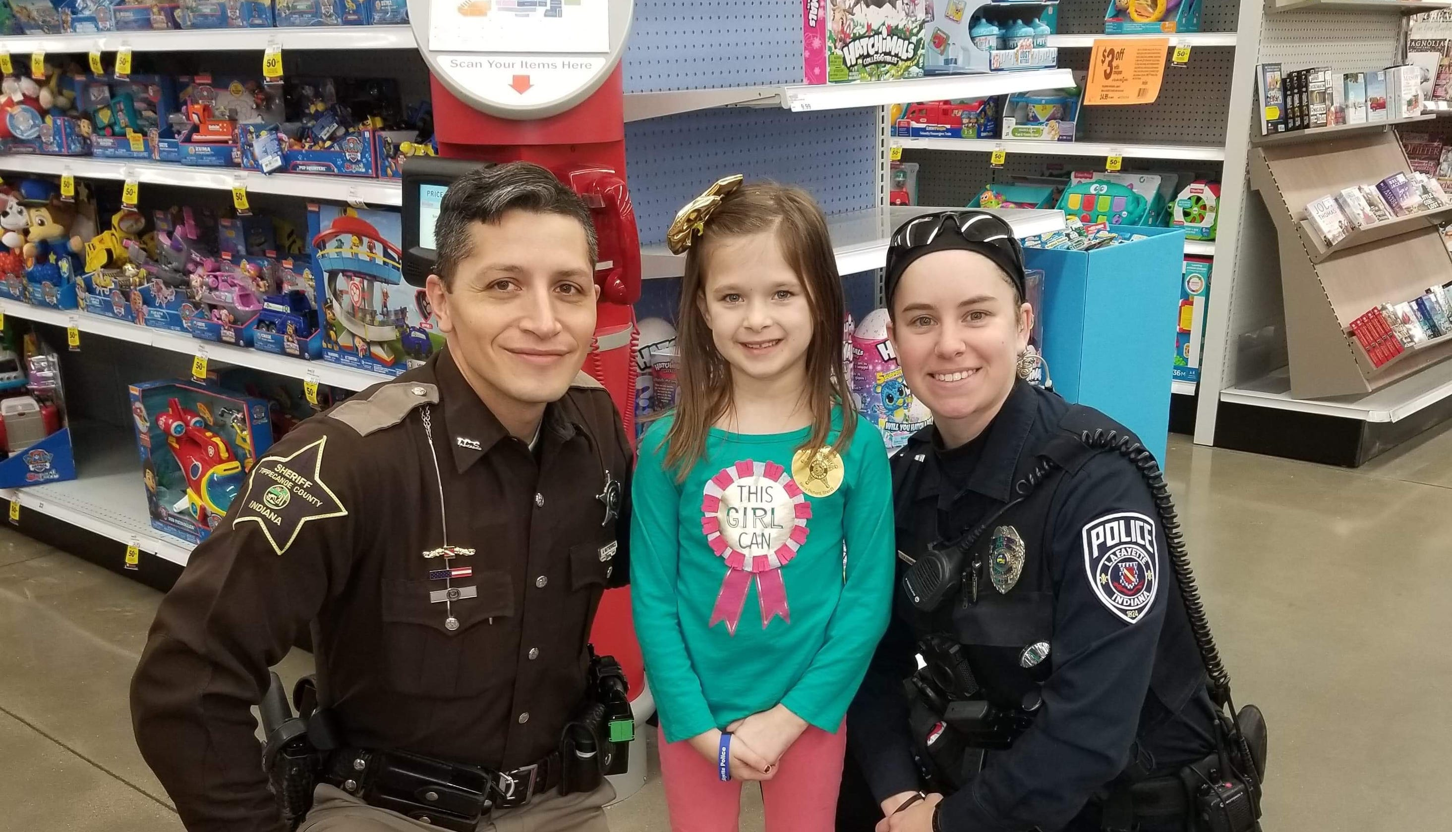Area Youngsters Get To With A Cop