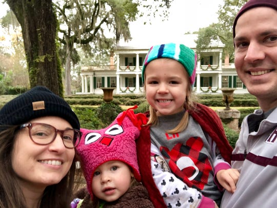 Reporter Leigh Guidry and family visit Rosedown Plantation in St. Francisville as they travel the Great River Road byway on a very chilly Sunday, Dec. 9, 2018.