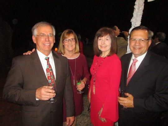 Miles and Glenda Matt, Margaret and Keith Trahan
