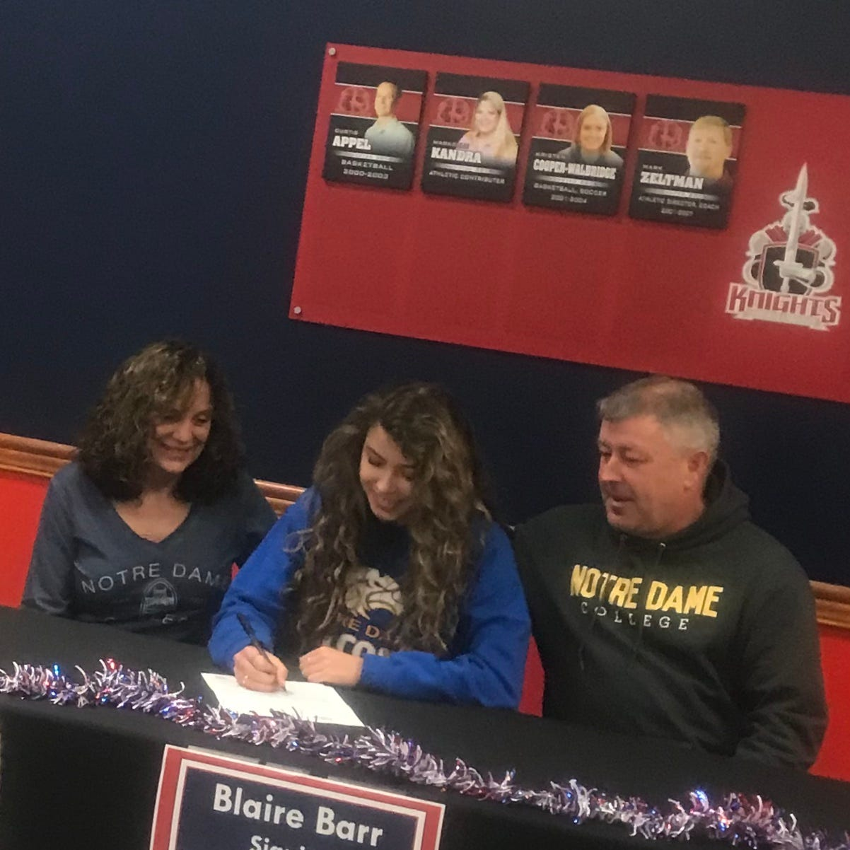 Barr signs to play volleyball at Notre Dame College