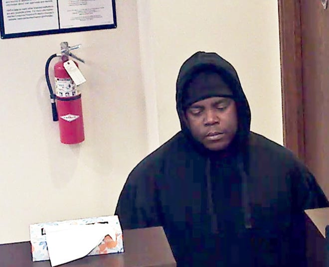 Police say this man is a suspect in the robbery of a Lake Trust Credit Union branch in Brighton on Monday Dec. 10, 2018. Warren Charles Gordon, 28, of Novi was arraigned on bank robbery and armed robbery charges Friday, Dec. 14, 2018.