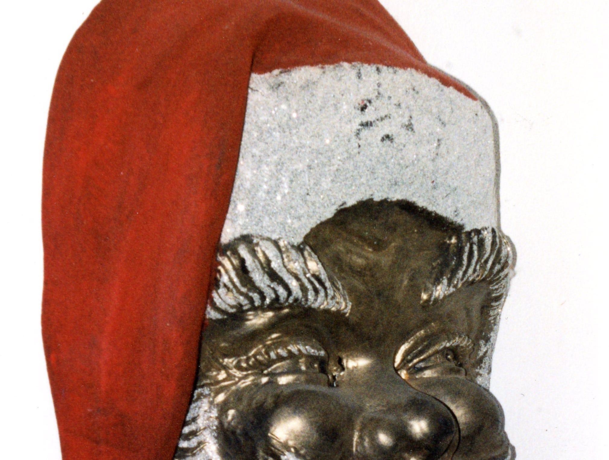 A Santa mask from Knapp's, 1970.