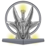 """An artist's rendering of the """"Star of Reconciliation,"""" which the West Michigan Friends of The Satanic Temple will display on the Capitol lawn in December 2018. The rendering is by Technically Timeless LLC."""