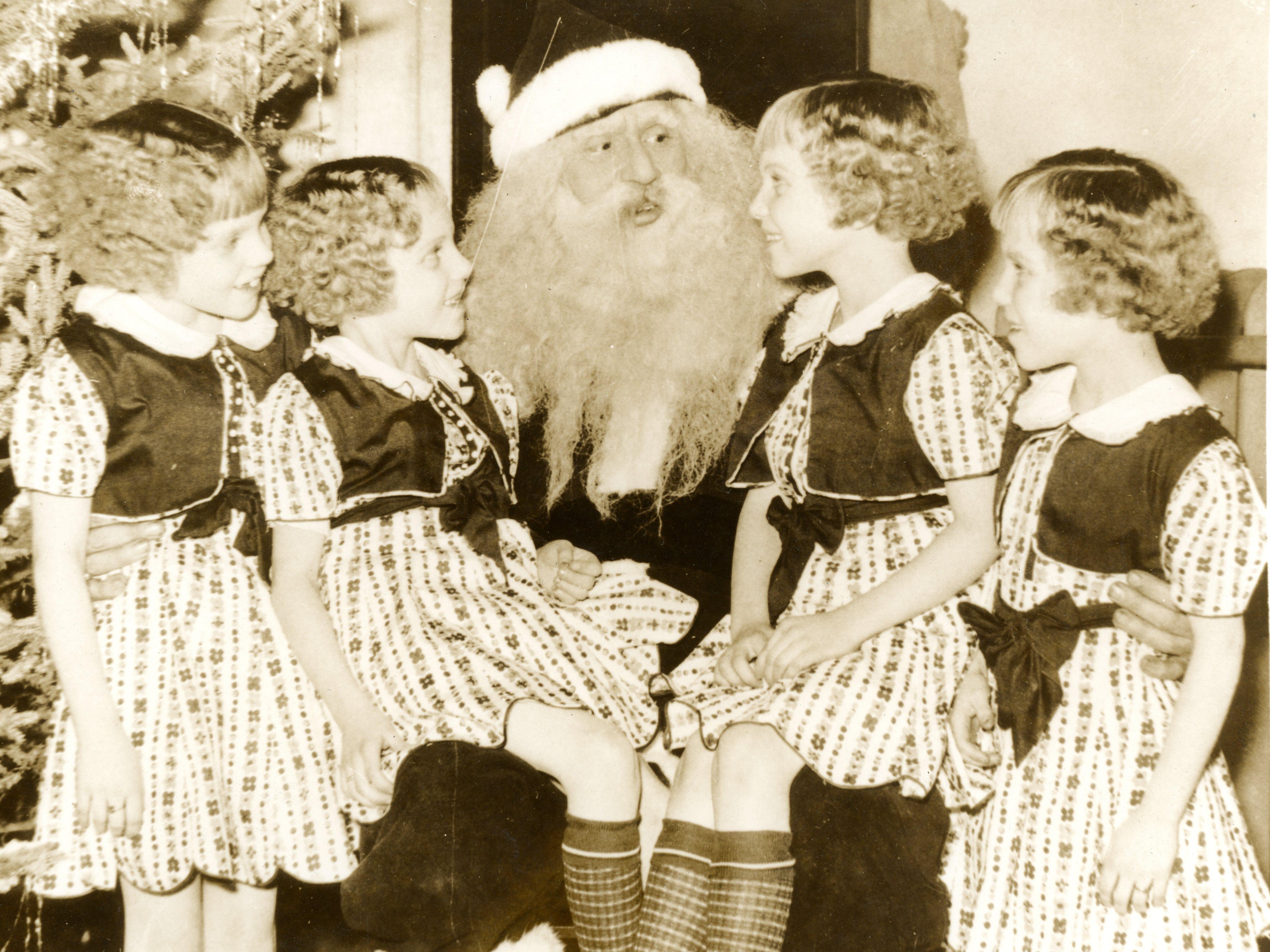 The Morlok quads visit Santa, date unknown.