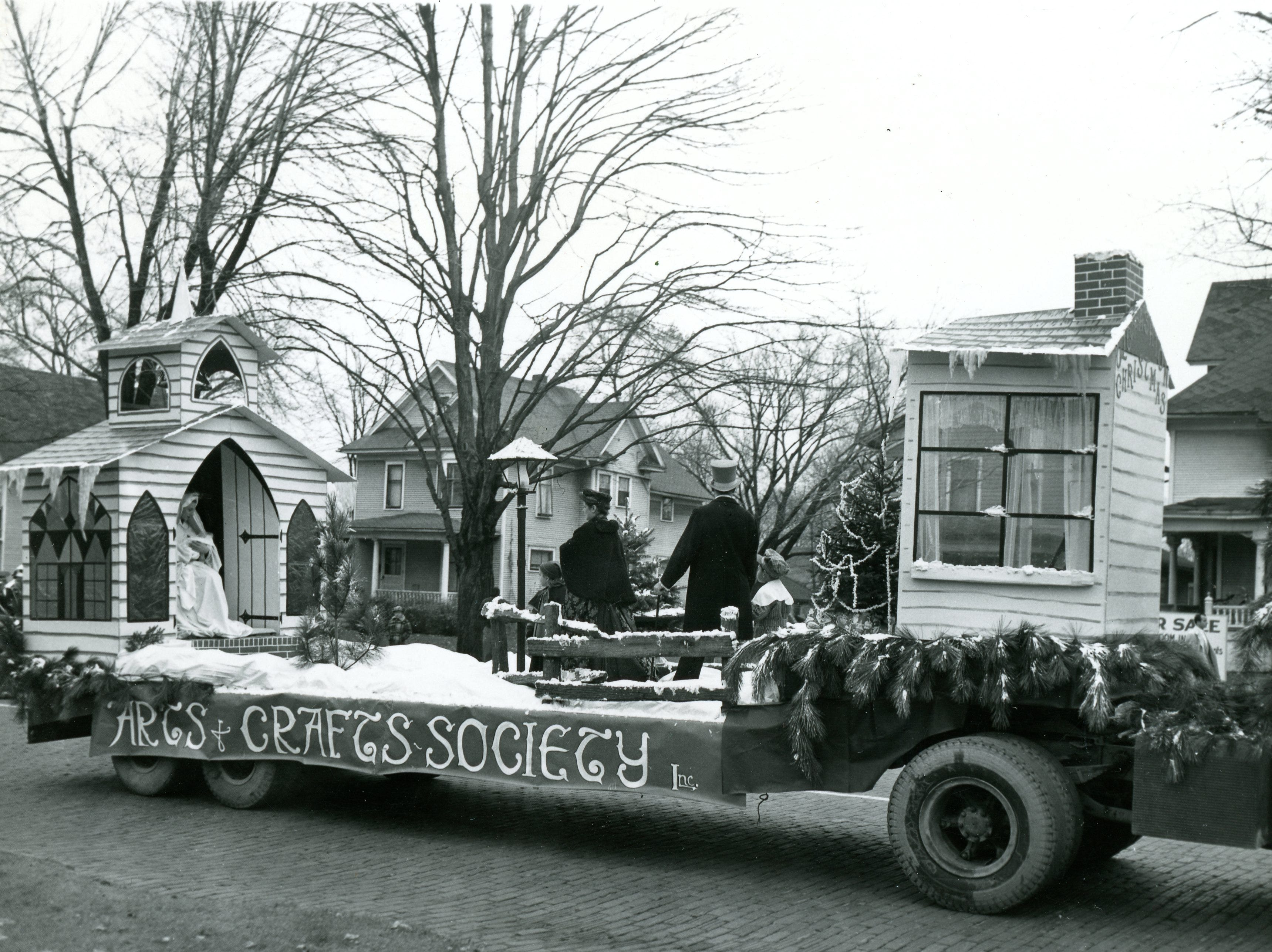 A float in Lansing's Christmas parade in the 1950s.