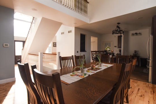 The dining room in Melissa and Lucas Lundberg's 4,600-square-foot home in Charlotte.