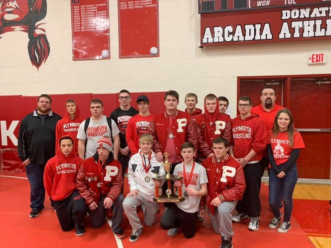 The Plymouth Big Red wrestling team took second place at the Arcadia Invite over the weekend.