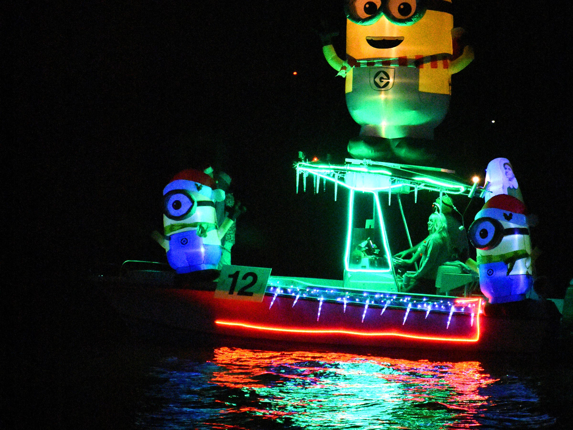 """Most Entertaining winner """"Sophie's Dinghy,"""" captained by Alexander Dubicki, was covered with minions."""
