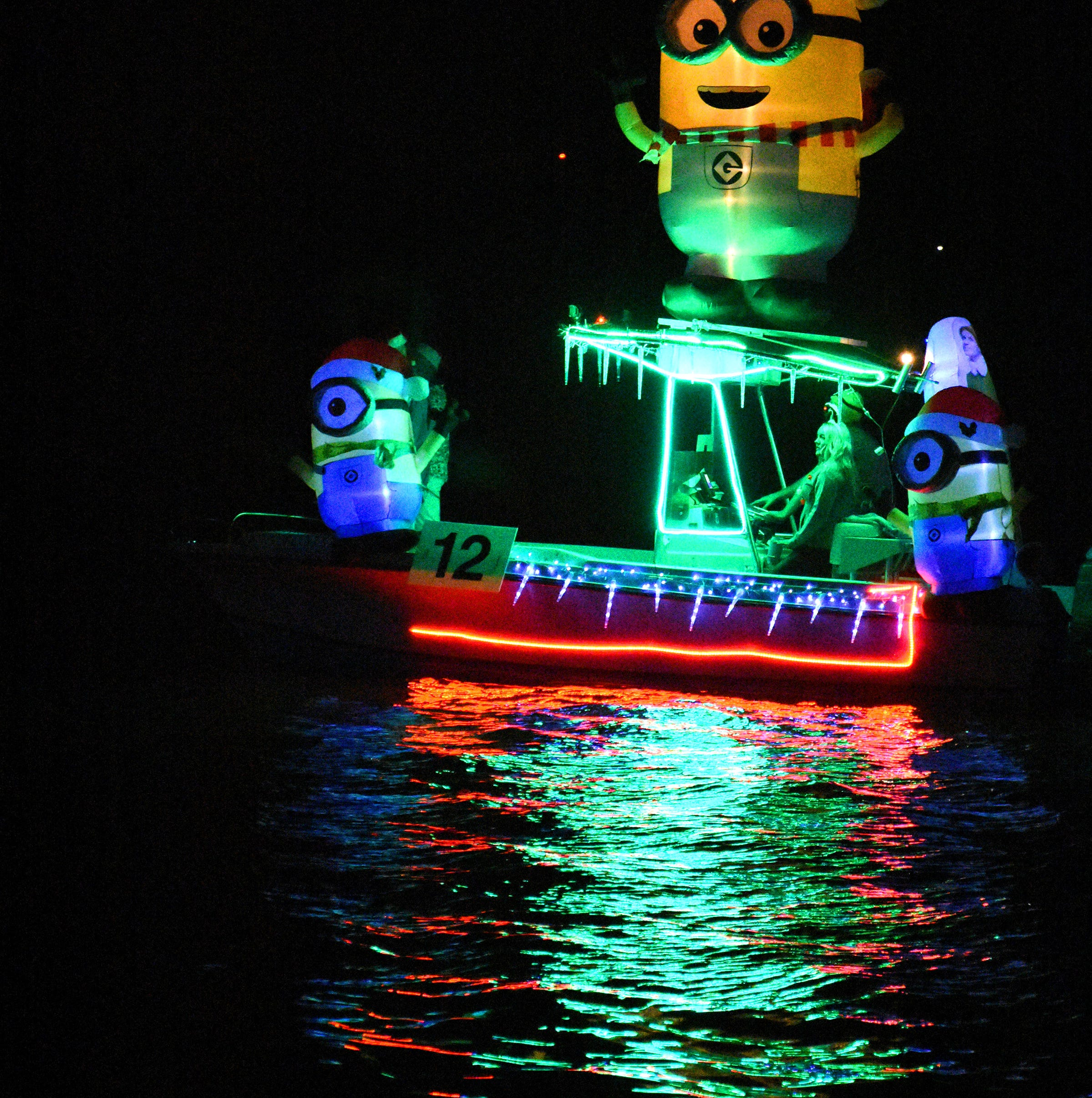 Christmas Island Style Holiday Boat Parade illuminates Marco Island channels