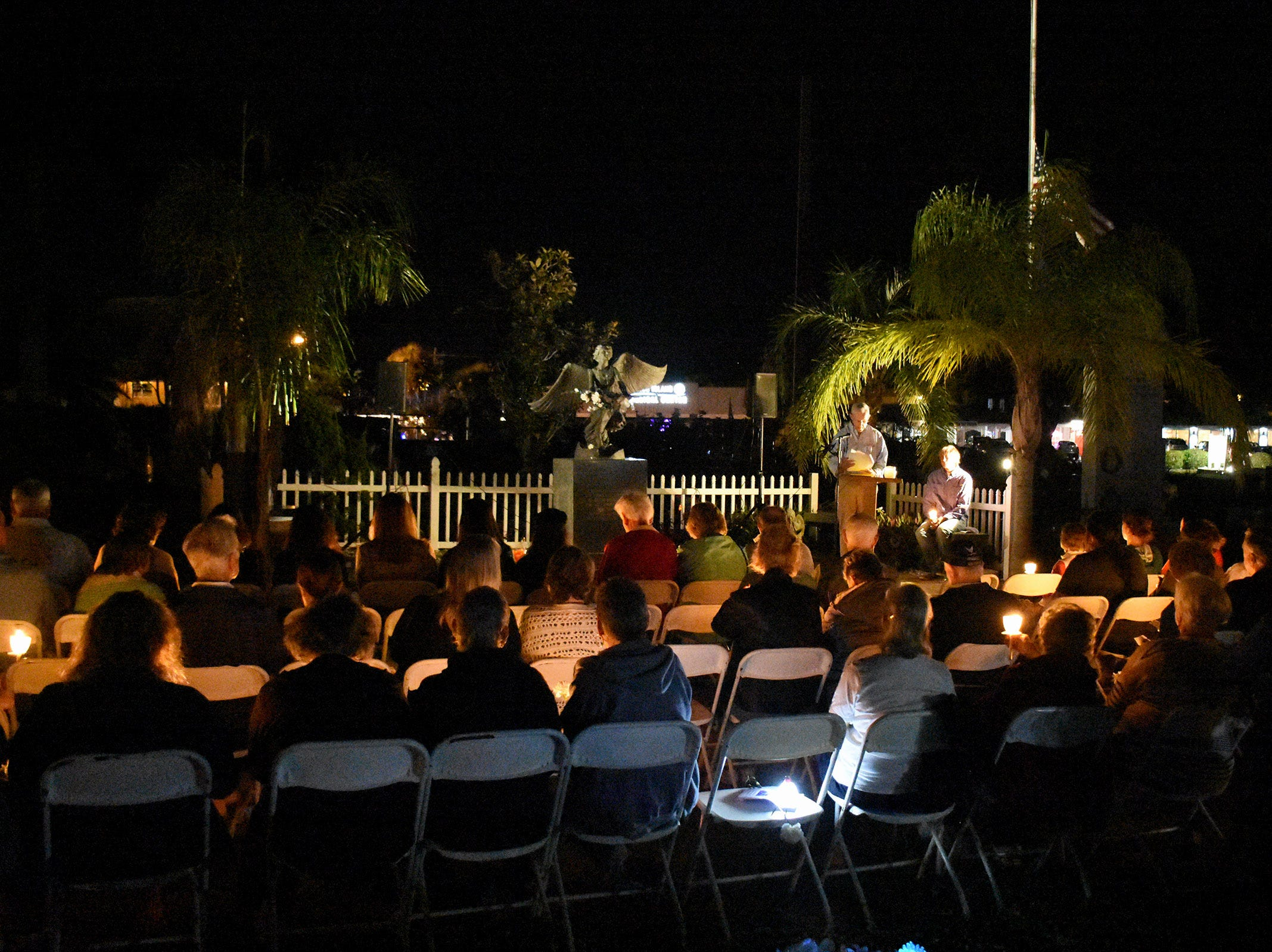 The Marco Island Christmas Box Angel Memorial Service, commemorating children and grandchildren who have died, was held Thursday evening at Marco Island Cemetery.