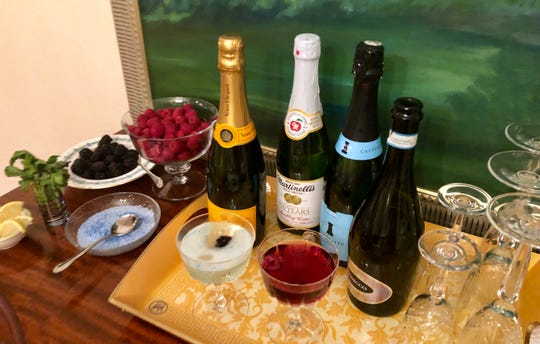Champage, prosecco, cava and California sparklers are all suitable for a make-your-own bubbly cocktail bar.