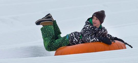 Snow tubing is fast fun at Sunburst Winter Sports Park in Kewaskum.