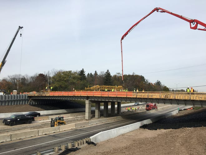 This Wisconsin Department of Transportation photo from Nov. 1 captures the reconstruction of the Green Tree Road Bridge. The bridge reopened on Dec. 10.