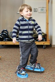 Even the youngest kids can use snowshoes.