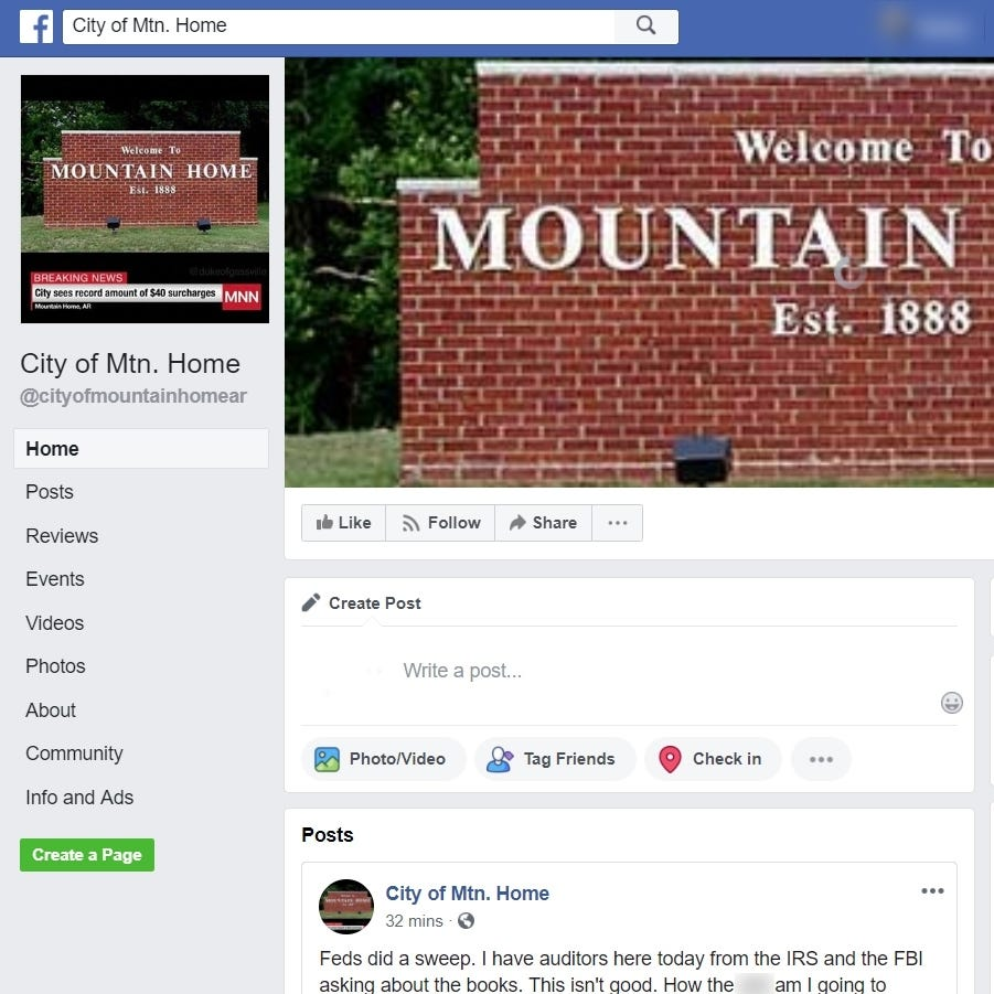 Fake news: Facebook page about city government entertains, annoys