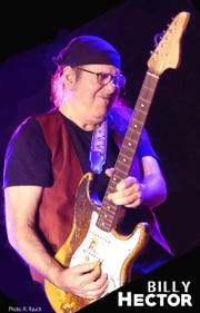 Blues guitarist-vocalist Billy Hector will perform with the Midnight Horns at the Stanhope House on Saturday, December 15.  Hector has been a familiar sight at Jersey Shore clubs as a front man and a solo artist for more than 30 years.