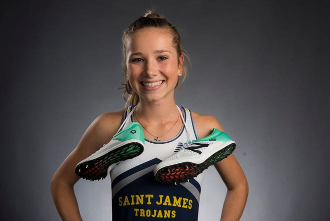All-Metro athlete St. James' Presley Miles poses for a portrait in Montgomery, Ala., on Monday, Dec. 10, 2018.