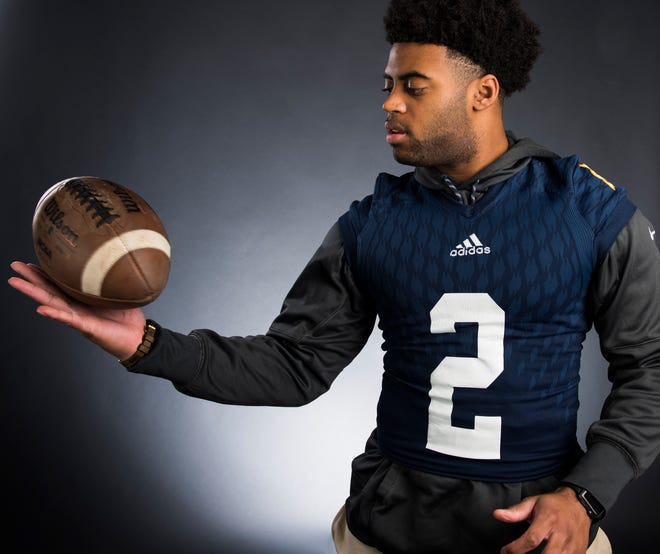 All-Metro athlete St. James' Tony Amerson poses for a portrait in Montgomery, Ala., on Monday, Dec. 10, 2018.