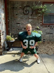 Yorktown's Carley Culberson has always loved football. This is her at age 7.