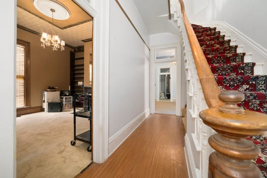 """The interior of 516 W. Jackson St., a historic home acquired by local realtor Rebekah Hanna, who is turning the home into a nice Airbnb rental. This is a """"before"""" picture."""