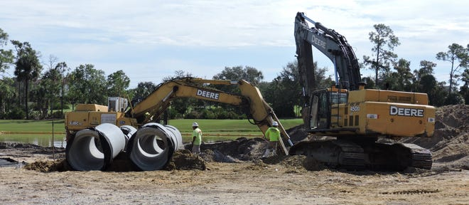 Heavy equipment and workers are now onsite as construction begins on the first three buildings at Moorings Park Grande Lake.