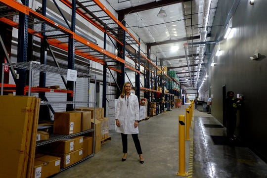 Trulieve CEO Kim Rivers stands in her new 55,000-square-foot medical marijuana manufacturing facility in Gadsden County in December 2018.