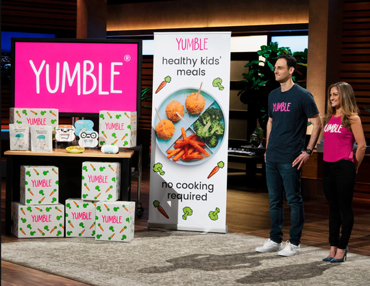 "Husband and wife duo Joanna and David Parker from Englewood introduce their convenient subscription service that delivers wholesome and ready-to-warm meals for kids to make mealtime stress-free on ""Shark Tank,"" Sunday, Dec. 9 on The ABC Television Network."