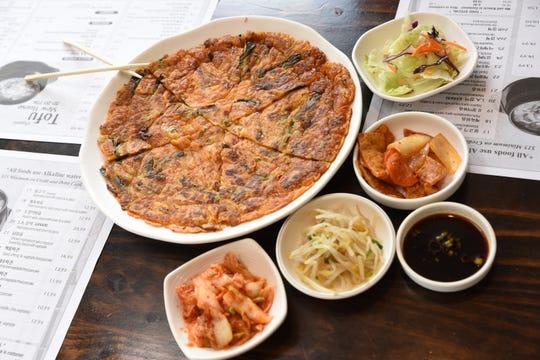 Tofu House's kimchi vegetable pancake