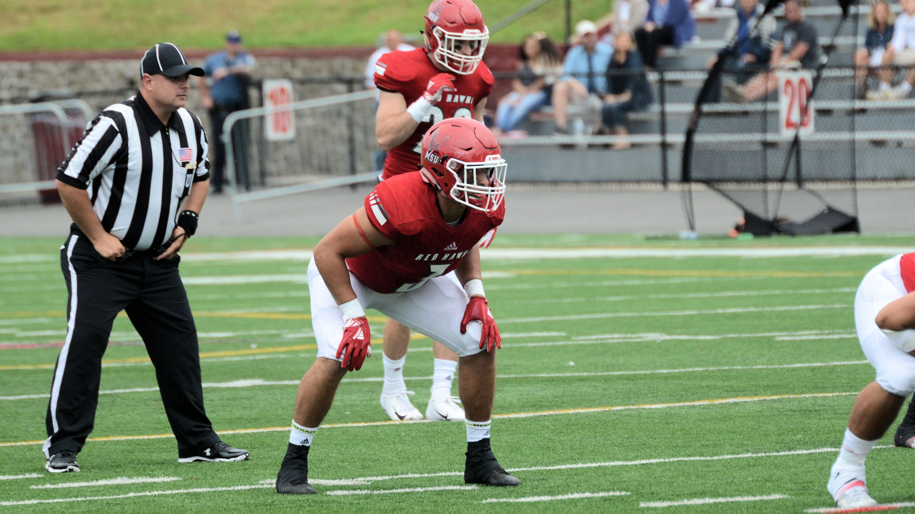 the best attitude e5fbe d3607 Mauro Altamura of Montclair State wins Sam Mills defensive honor