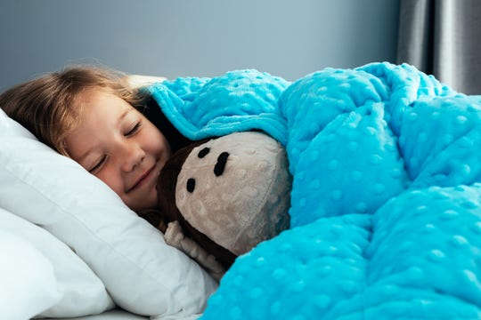 SensaCalm suggests good times for a weighted blanket or lap pad for children include sleeping, in the car, at the doctor or dentist, at school, or any time your child is upset, anxious or overstimulated.