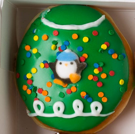 The Ugly Sweater Penguin donut.