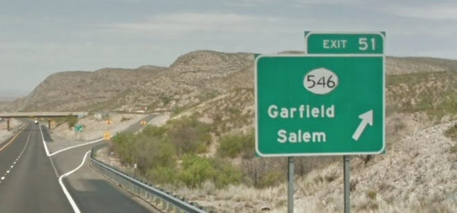 An early-morning pursuit by Border Patrol Monday ended when a vehicle rolled over near the Garfield/Salem exit from the I-25 in Doña Ana County.