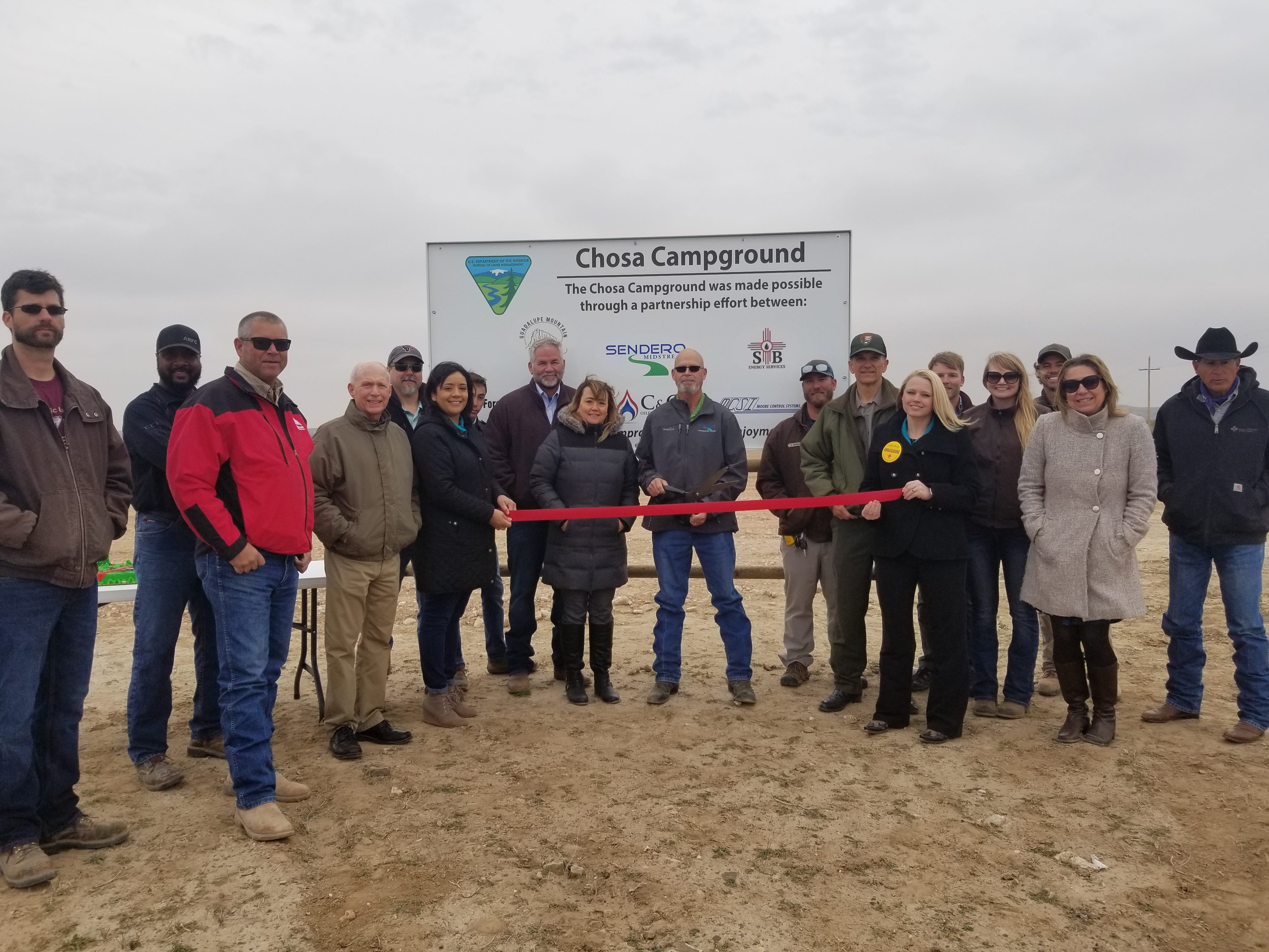 Improvements to the Chosa Campground were made possible through partnerships with local businesses, the Bureau of Land Management and area organizations. A ribbon cutting was held Dec. 6.