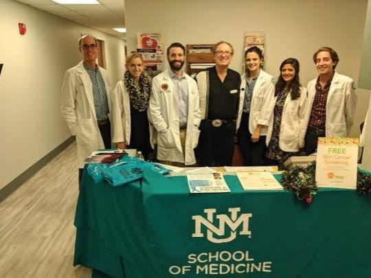 Pictured, left to right, are Dr. Brandon Cometti, Shannen Ramey, Dr. John Durkin, Jeff Diamond, Juliana Runnels, Rika Ravichandran, and Michael Yardman-Frank.