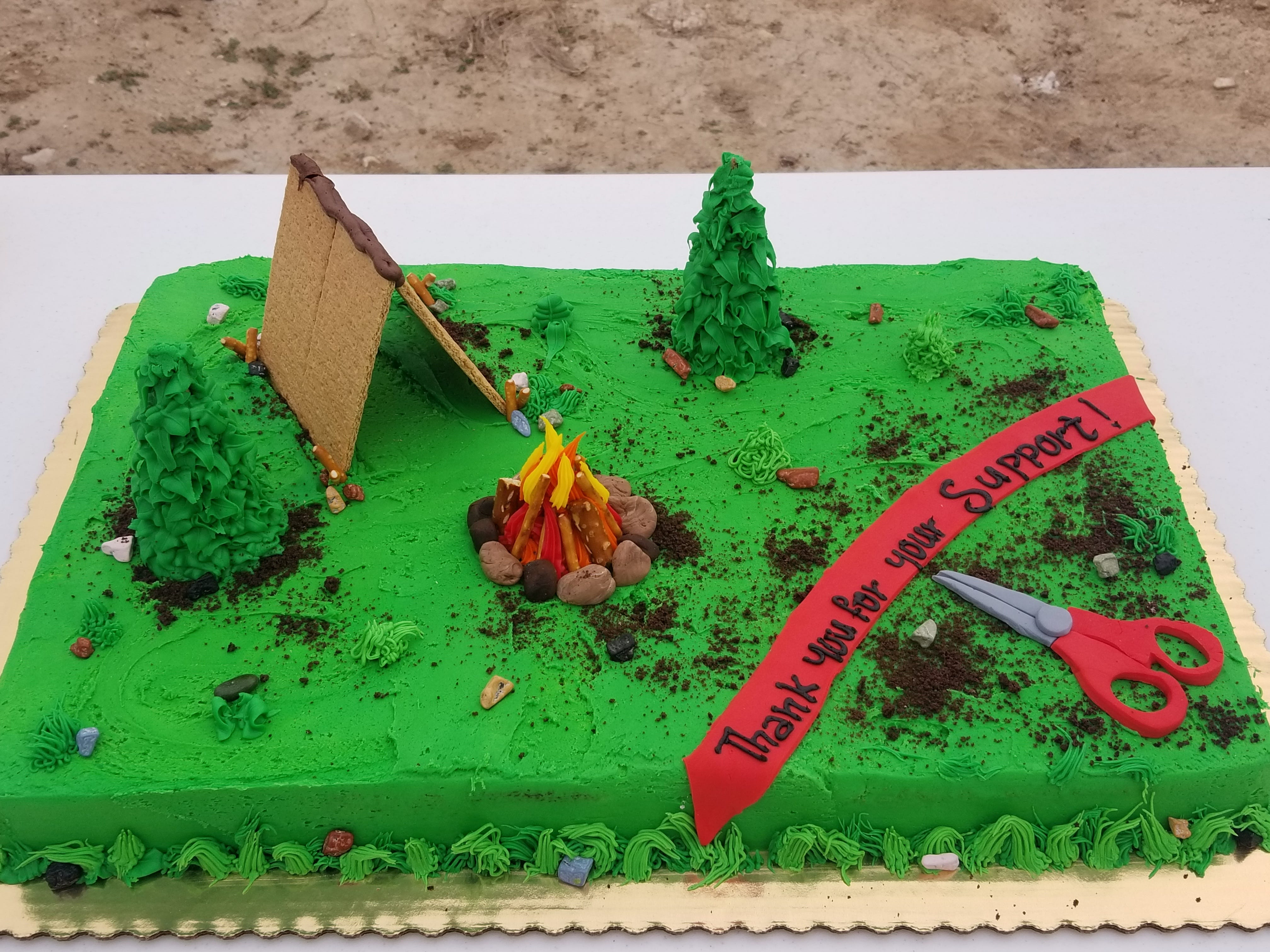 The opening of the Chosa Campground was celebrated with cake.
