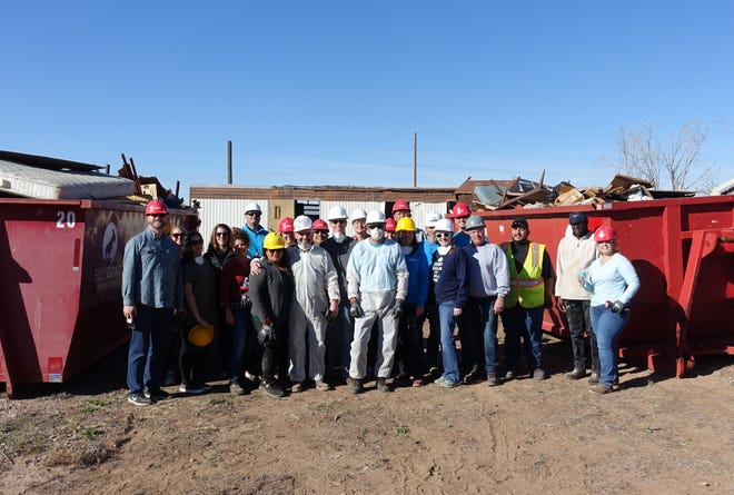 Approximately 35 volunteers recently undertook a project on behalf on White Sands Habitat for Humanity in which they cleared a property to make way for a new home.