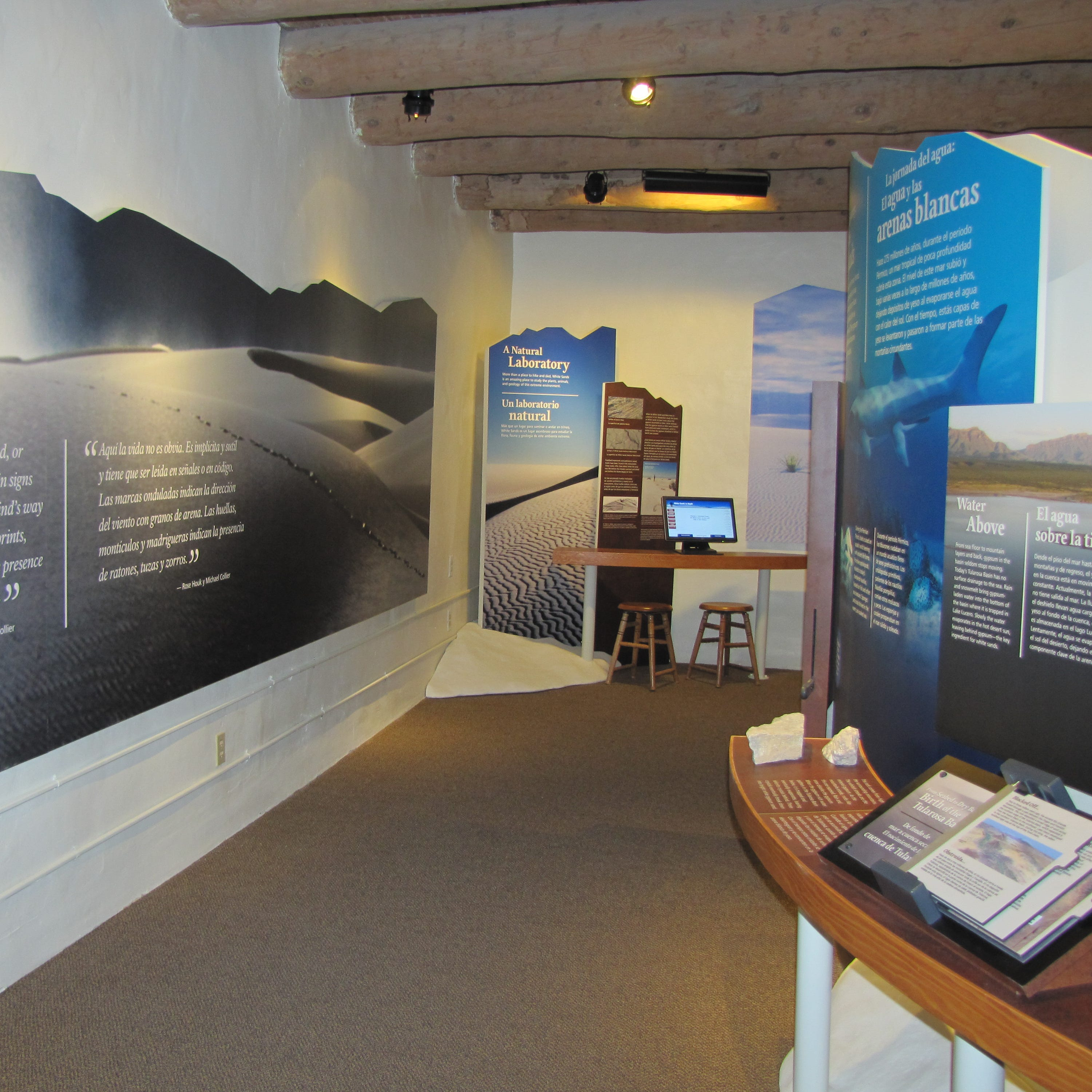 Located in the historic Spanish pueblo-adobe visitor center, you can learn all about the natural and cultural resources of White Sands.