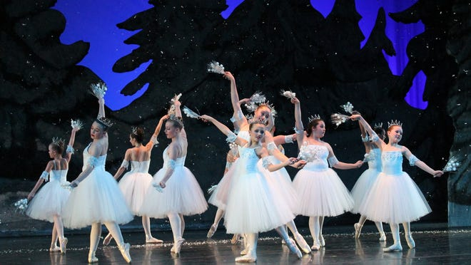 "The Dali Ballet Company performance featuring the ""Snowflakes"" in the Nutcracker Ballet. at the Spencer Theater."