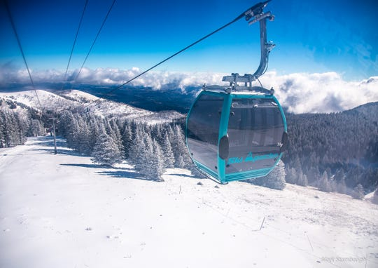 A heavenly view is captured from a gondola at Ski Apache.
