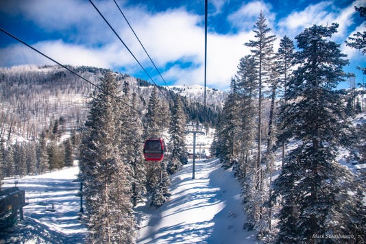gondola on a slope at Ski Apache