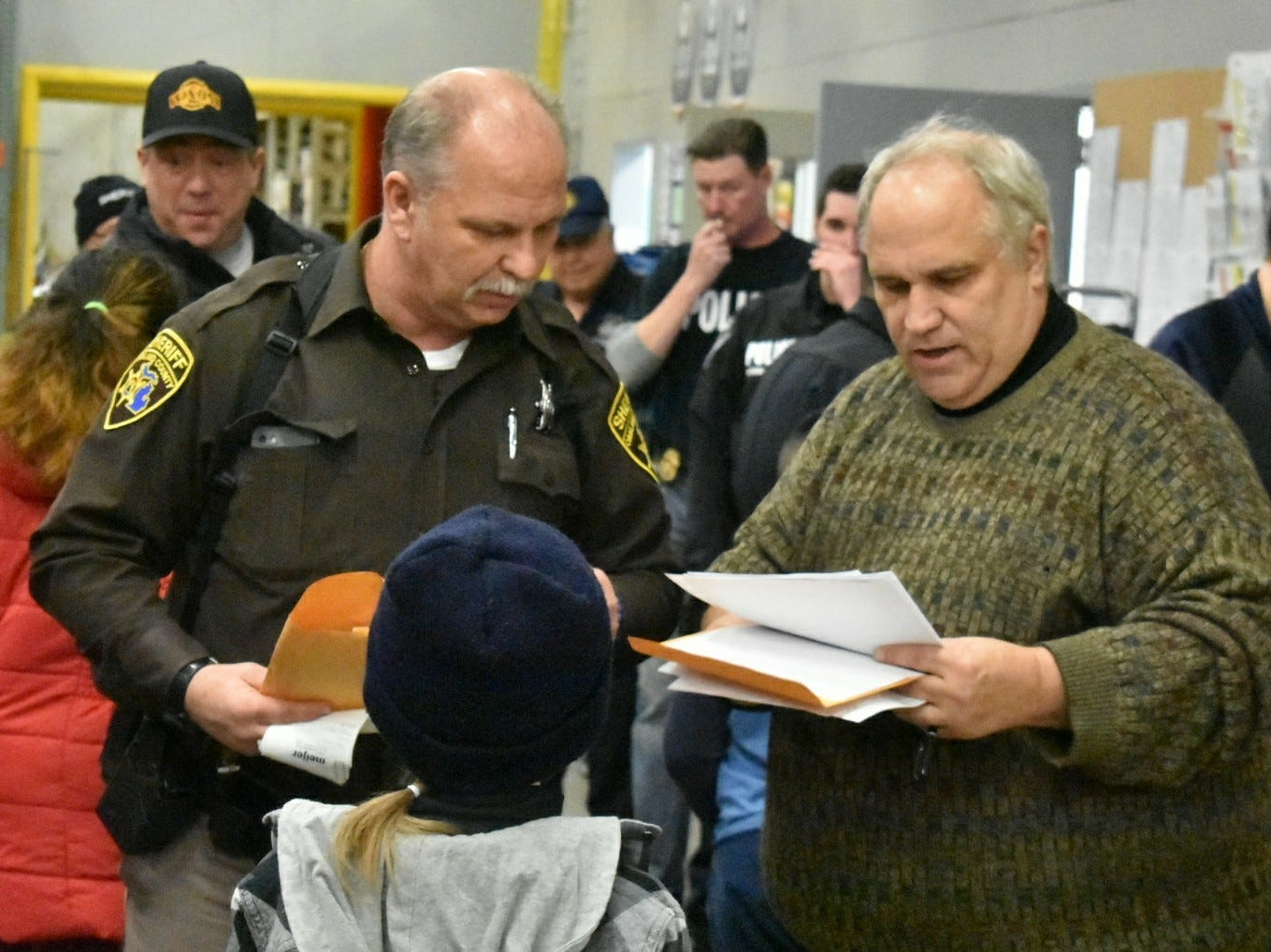 """The """"Shop With a Hero"""" event is an annual collaboration between Fraternal Order of Police Local 128 and local youth assistance groups."""