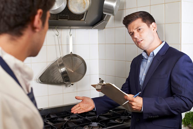 Health inspectors typically make two annual inspections to commercial kitchens per year, including restaurants, food trucks, VFW posts and more.