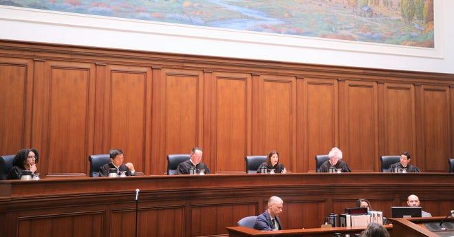 California Supreme Court justices in San Francisco.