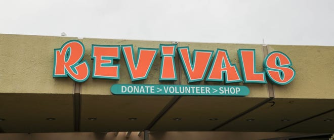 The Revivals thrift store in Palm Springs in an undated photo. A Revivals, which raise money for the Desert AIDS Project, is opening in Indio.
