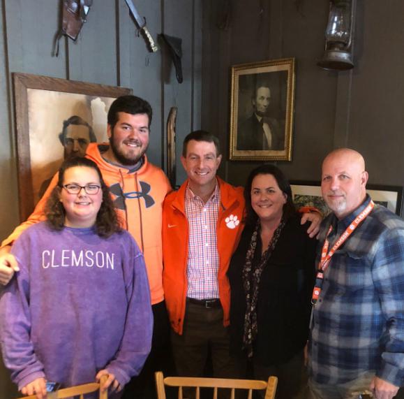 Clemson's Dabo Swinney visits Pensacola High's Rayburn