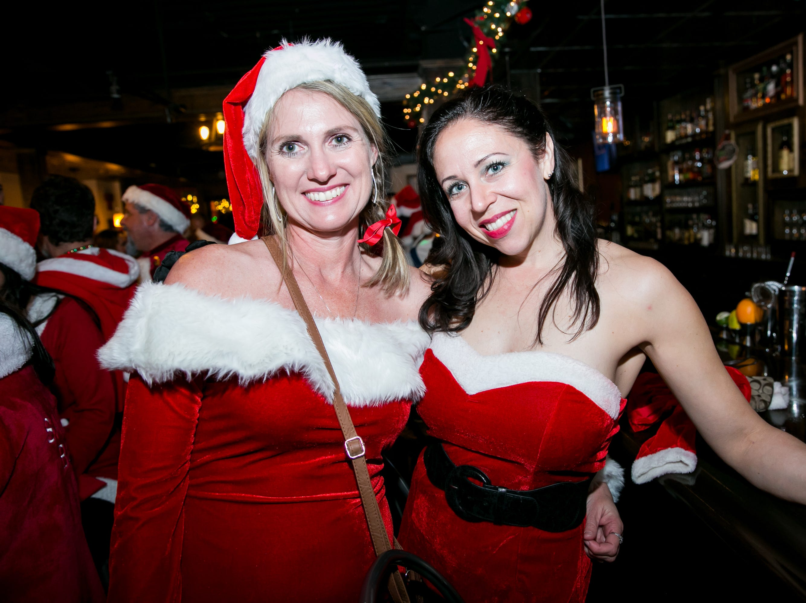 These ladies looked stunning at The Kettle Black during Santarchy on Saturday, December 8, 2018.