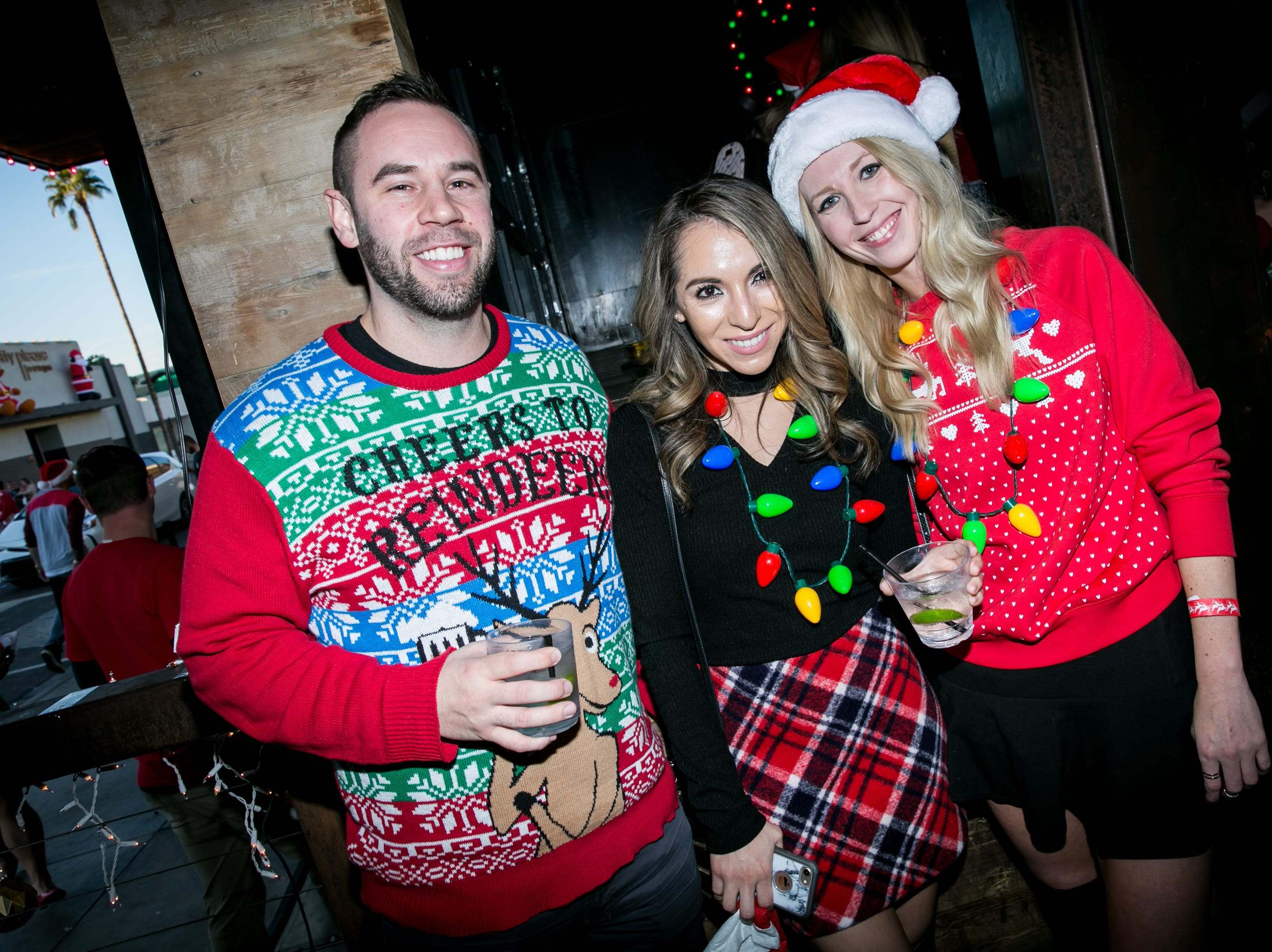 Reindeer were celebrated during the Scottsdale Santa Crawl at The Bevvy on Saturday, December 8, 2018.