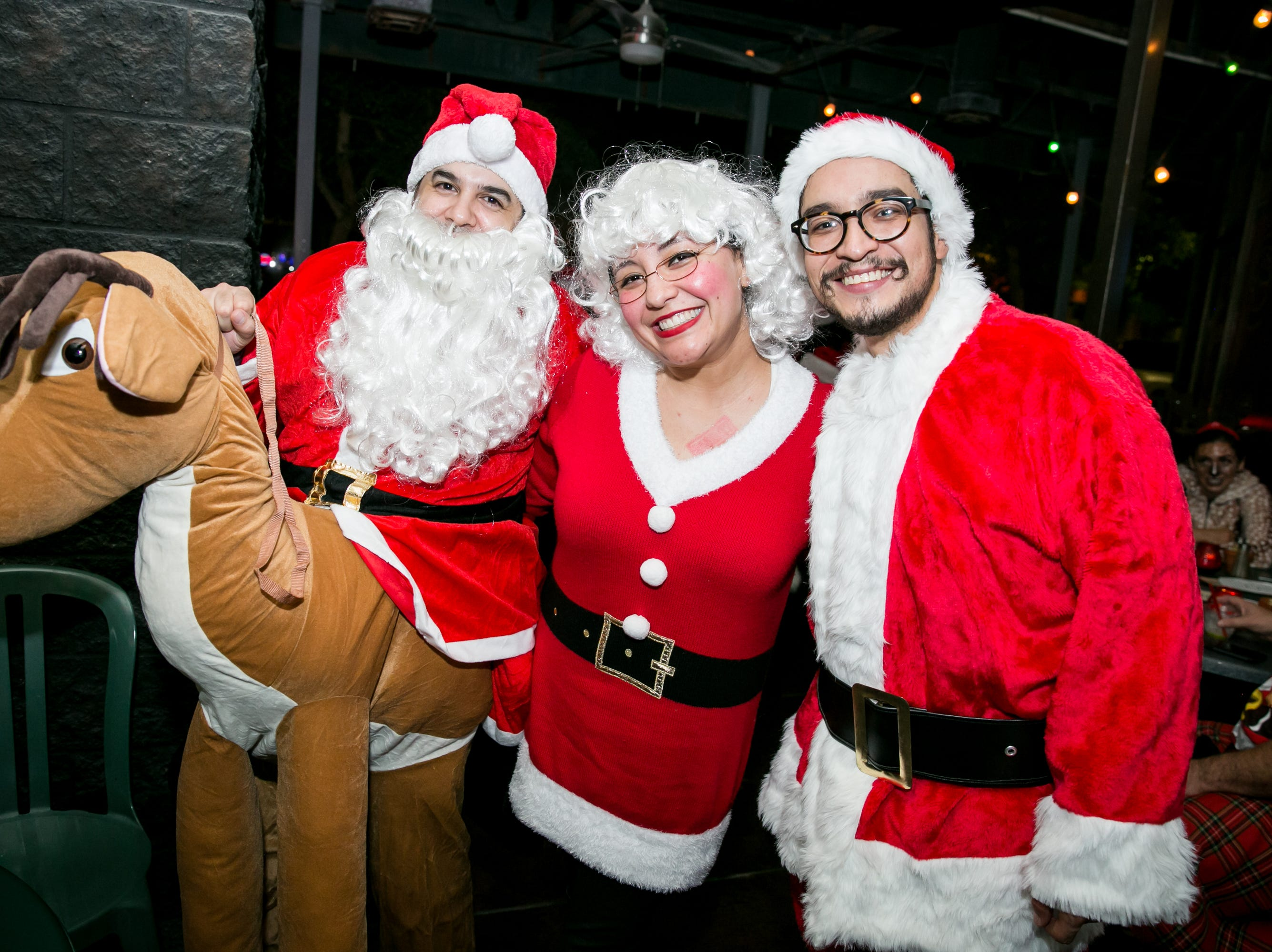 Christmas wouldn't be complete without Rudolph at Steve's Greenhouse Grill during Santarchy on Saturday, December 8, 2018.