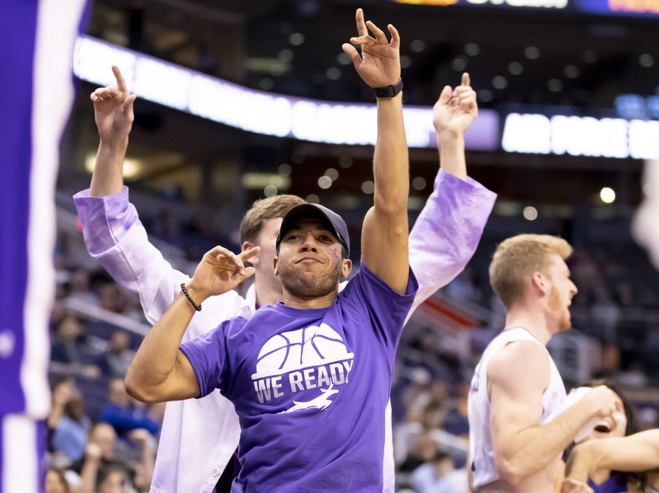 Grand Canyon fans cheer during the 2018 Jerry Colangelo Classic against Nevada Wolf Pack at Talking Stick Resort Arena on Sunday, December 9, 2018 in Phoenix, Arizona.